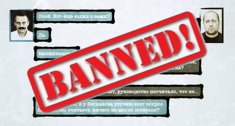 Navalny video on YouTube was banned